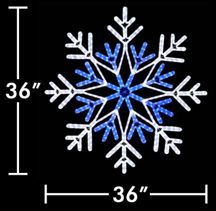 "36"" LED Two Color Snowflake"
