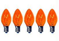 C7 Amber Twinkle Bulbs 5-Watt (25 Pack)