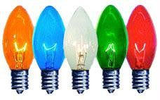 C9 Multi-Color Twinkle Bulbs 7-Watt (25 Pack)