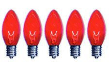 C9 Red Twinkle Bulbs 7-Watt (25 Pack)