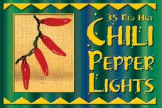 Red Chili Pepper String Lights