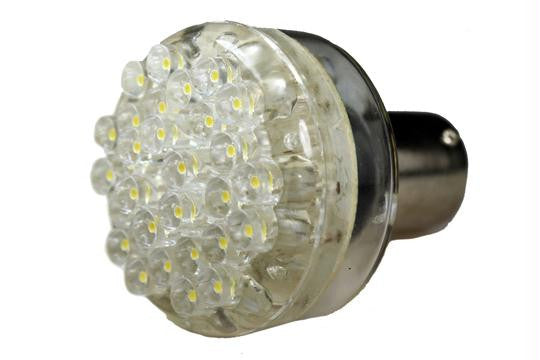 30 LED 12V Cool White 1156 Bayonet Bulb (100 )