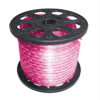 "150' 2-Wire 12-Volt 3-8"" Pink Rope Light Spool"