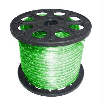 "150' 2-Wire 120-Volt 1-2"" Green Rope Light Spool"