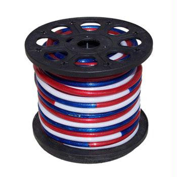 "150' 2-Wire 120-Volt 1-2"" Patriotic Red White & Blue Rope Light Spool"