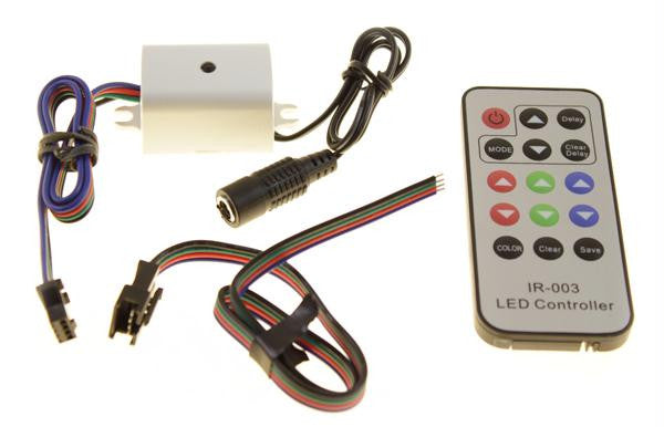 RGB 12V LED Strip Light Controller with Remote