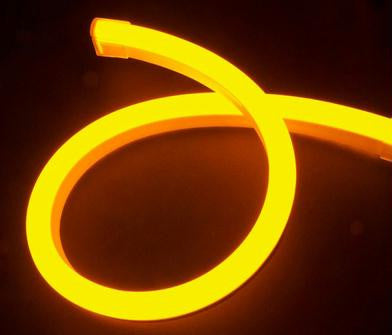 Pre-Cut LED Neon 2-Wire 120-Volt Yellow Rope Light