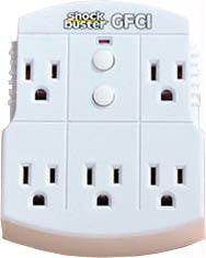 5-Outlet GFI ShockBuster Surge Protector