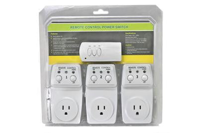 Indoor Remote Control Power Switch (3 Pack)