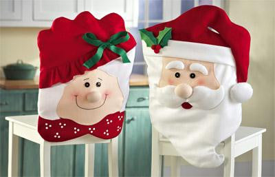 Mr. and Mrs. Claus Chair Covers