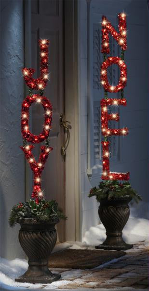 Joy Christmas Lighted Stake