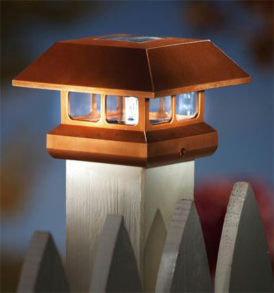 Copper Solar Cap Light