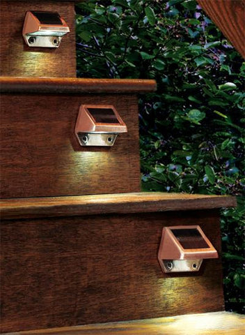 Bronze Solar Step Lights (2 Pack)