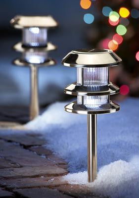 Solar Path Lights - Stainless Steel
