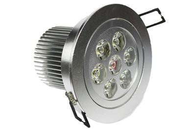 LED Pure White 7W Recessed Light