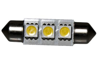 3 LED 12V Warm White 37mm Festoon Bulb (120 )