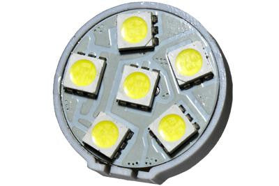 6 LED 12V Cool White G4(Back) Bulb (120 )