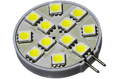 12 LED 12V Cool White G4(Side) Bulb (120 )