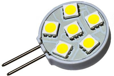 6 LED 12V Warm White G4(Side) Bulb (120 )