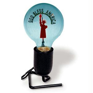 God Bless America Novelty Bulb