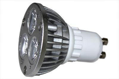 120V 3x1W Cool White MR16 LED Light Bulb (GU10)
