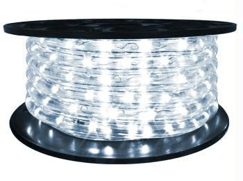 "65' LED 2-Wire 120-Volt 1-2"" Cool White Rope Light Spool (Vertical)"