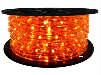 "65' LED 2-Wire 120-Volt 1-2"" Orange Rope Light Spool (Vertical)"