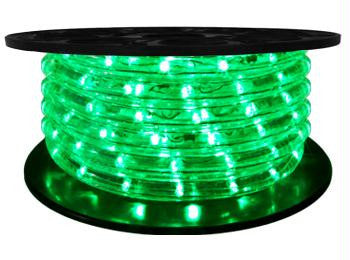 "65' LED 2-Wire 12-Volt 1-2"" Green Rope Light Spool (Vertical)"