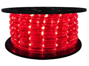 "65' LED 2-Wire 12-Volt 1-2"" Red Rope Light Spool (Vertical)"