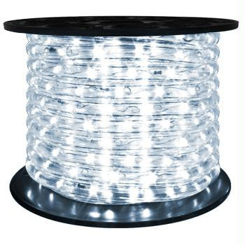 "151' LED 2-Wire 120-Volt 1-2"" Cool White Rope Light Spool (Horizontal)"