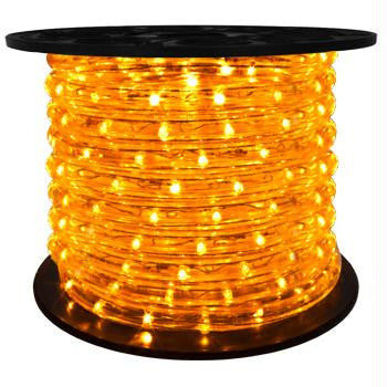 "151' LED 2-Wire 120-Volt 1-2"" Yellow Rope Light Spool (Horizontal)"