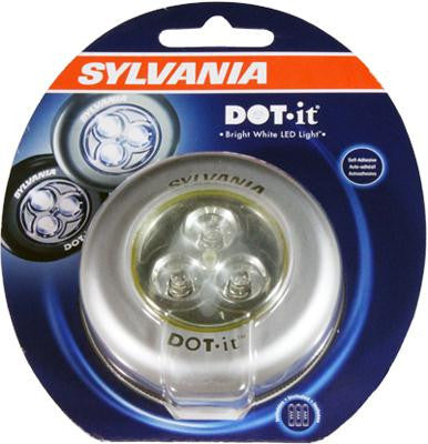Battery Operated Stick On Puck Light w- 3 Bright White LEDs
