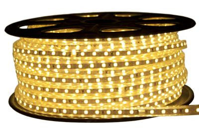 164' 120-Volt Warm White 3528 LED Strip Light Spool