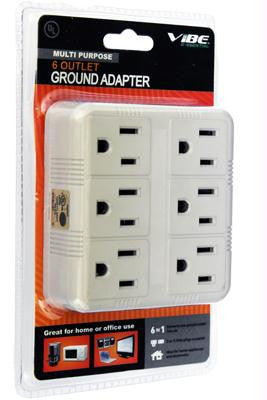 6 Outlet Wall Mount Surge Protector (918 Joules)