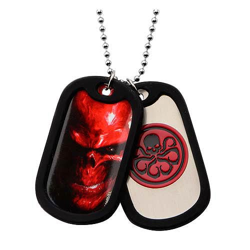 Agents of SHIELD Hydra Dog Tags with Chain Necklace