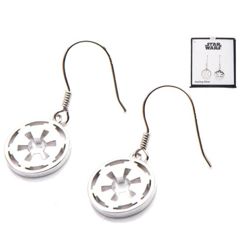 Star Wars Galactic Empire Symbol Sterling Silver Earrings
