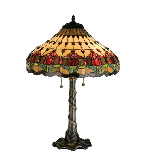 25.5 Inch H Colonial Tulip Table Lamp Table Lamps