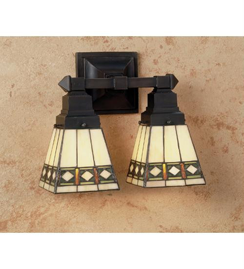 12 Inch W Diamond Mission 2 Lt Wall Sconce Wall Sconces