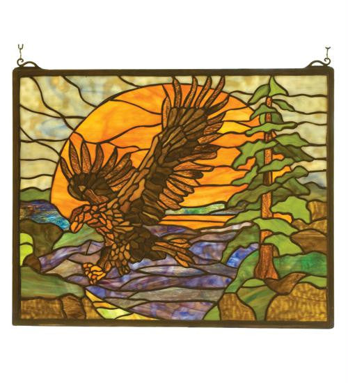 20 Inch W 16 Inch H Eagle At Sunset Window Windows