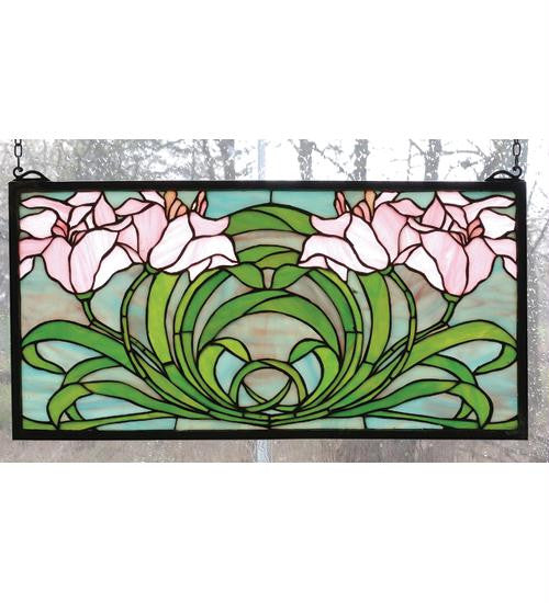 22 Inch W X 11 Inch H Calla Lily Window Windows