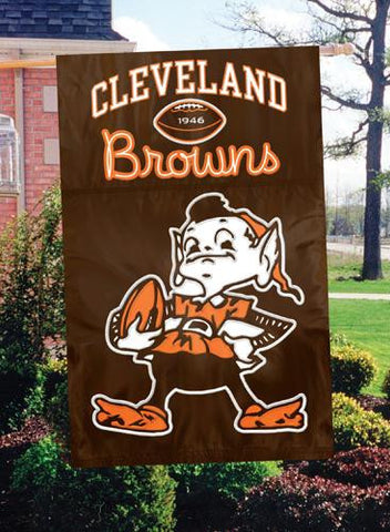 AFBRE Browns with Brownie Elf 44x28 Applique Banner