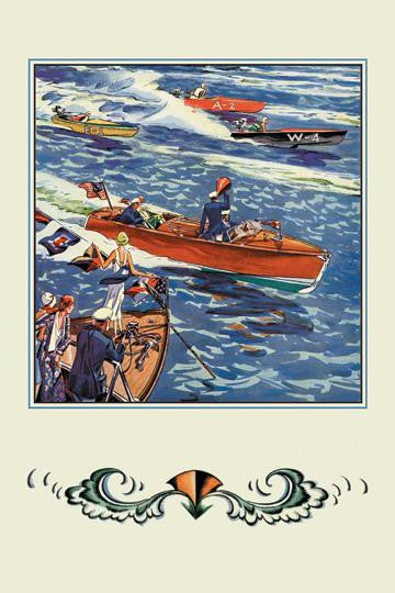 16 ft. Runabout 20x30 poster