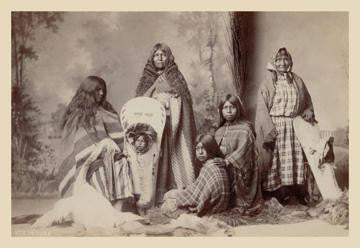 Ute Indians: Three Generations of Women 20x30 poster