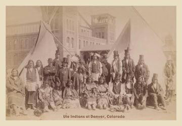 Ute Indians, Denver, Colorado 20x30 poster