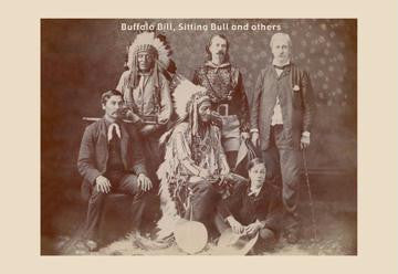 Buffalo Bill, Sitting Bull, and Others 20x30 poster