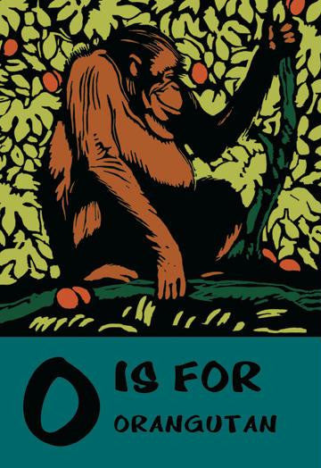 O is for Orangutang 20x30 poster