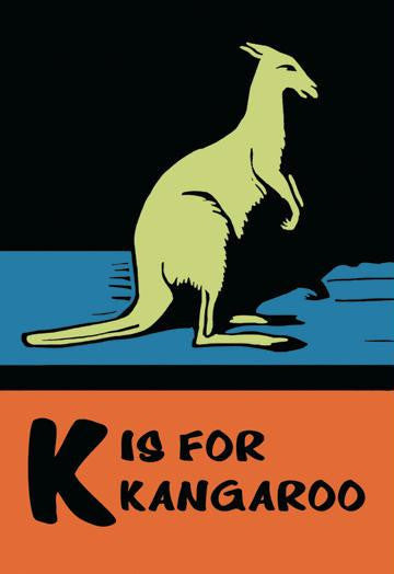 K is for Kangaroo 20x30 poster