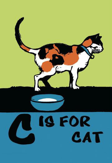 C is for Cat 20x30 poster