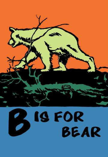 B is for Bear 20x30 poster