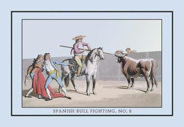 Spanish Bull Fighting, No. 2: Attack of the Picadores 20x30 poster